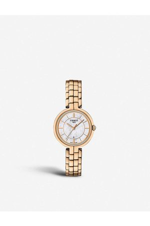Tissot Women Watches - Flamingo rose gold-plated stainless steel watch