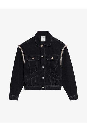 Sandro Paloma embellished denim jacket