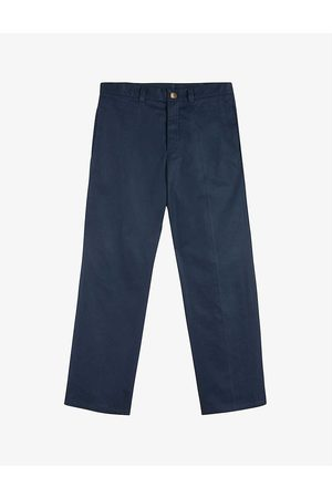 Ted Baker Men Trousers - Cornwol centre-crease regular-fit straight cotton-twill trousers
