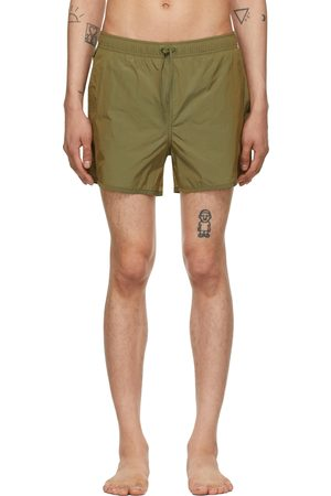 CDLP Men Swim Shorts - Green Taffeta Swim Trunks