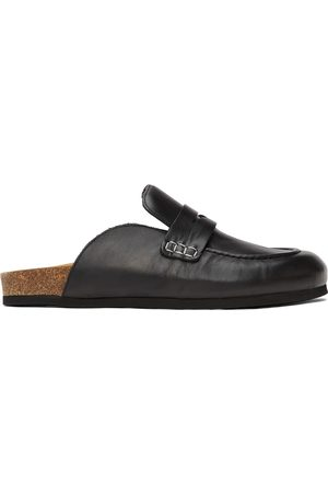 J.W.Anderson Men Loafers - Black Leather Loafers