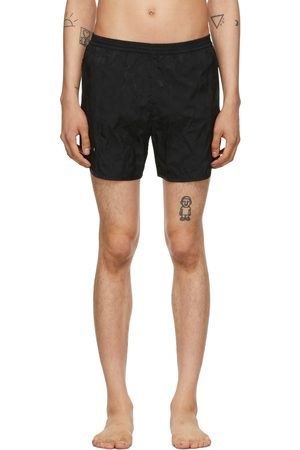 TRUE TRIBE Men Swim Shorts - Black Camo Wild Steve Swim Shorts