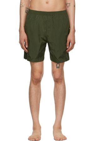 TRUE TRIBE Men Swim Shorts - Khaki Neat Steve Swim Shorts