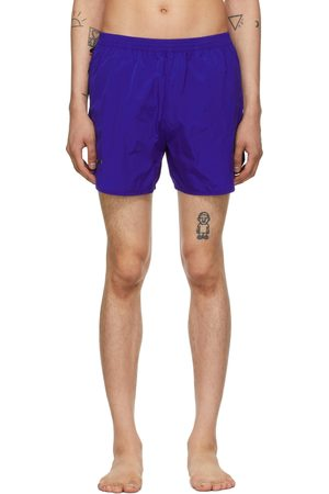 TRUE TRIBE Men Swim Shorts - Blue Wild Steve Swim Shorts