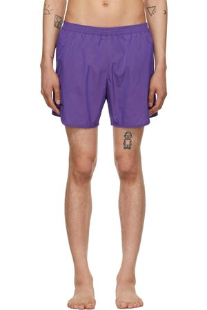 TRUE TRIBE Men Swim Shorts - Purple Wild Steve Swim Shorts