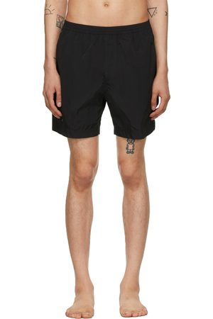 TRUE TRIBE Men Swim Shorts - Black Neat Steve Swim Shorts