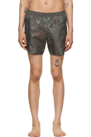 TRUE TRIBE Men Swim Shorts - Khaki Camo Wild Steve Swim Shorts
