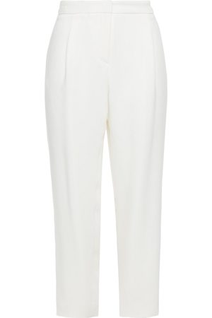 Carolina Herrera Woman Cropped Silk-blend Crepe Tapered Pants Size 10