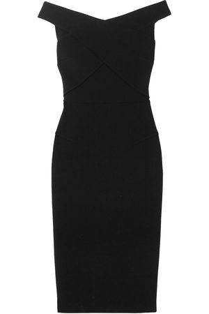 Roland Mouret Woman Amarula Off-the-shoulder Wool-crepe Midi Dress Size 10