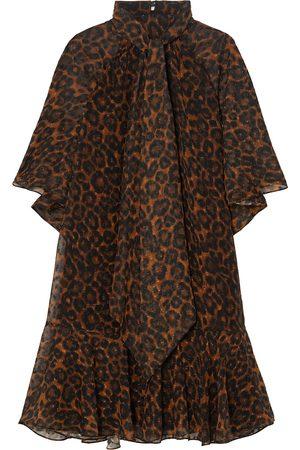 Erdem Woman Elviretta Leopard-print Fil Coupé Chiffon Dress Animal Print Size 10