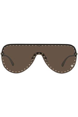 VERSACE Sunglasses - Stud-detail shield-frame sunglasses