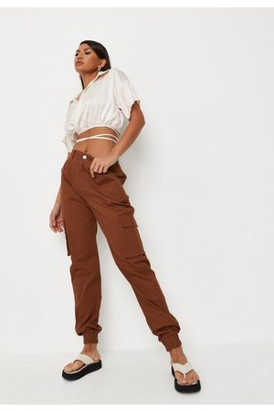 Missguided Chocolate Basic Cargo Trousers