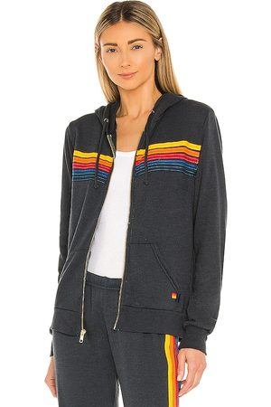 AVIATOR NATION 5 Stripe Hoodie in . Size XS, S, M.