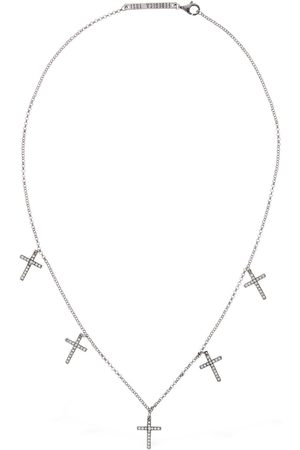 FEDERICA TOSI Lace Faith Mini Short Necklace