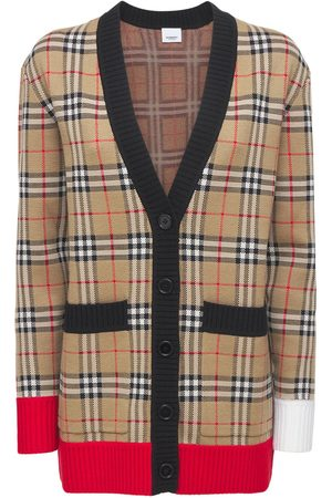 Burberry Iconic Wool Blend Knit Cardigan