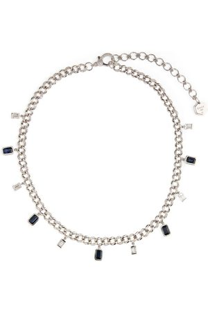 Shay Women Necklaces - Gold, Diamond and Sapphire Links Choker