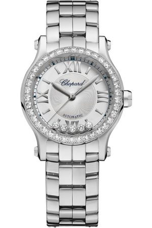 Chopard Women Watches - Stainless Steel and Diamond Happy Sport Watch 30mm