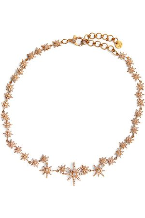 Shay Women Necklaces - Rose and Diamond Celestial Choker