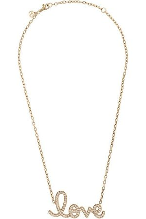 Sydney Evan 14kt large pavé love necklace