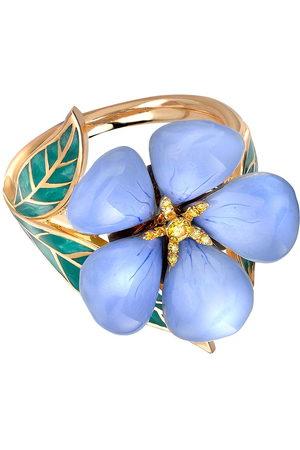 Pragnell Women Rings - 18kt yellow Wildflower blue flax yellow diamond ring