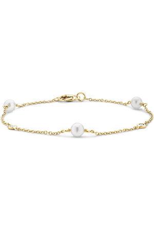 Pragnell 18kt yellow Sundance pearl and diamond bracelet