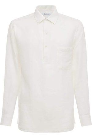 Loro Piana Andre Arizona Linen Polo Shirt