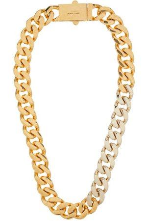 Saint Laurent Women Necklaces - Bi-colour Curb-chain Necklace - Womens - Multi
