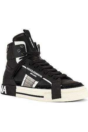 Dolce & Gabbana Men Trainers - Custom 2.Zero High-Top Sneakers in
