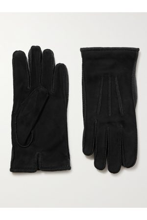 Loro Piana Men Gloves - Damon Baby Cashmere-Lined Suede Gloves