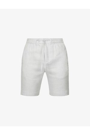 Frescobol Carioca Felipe high-rise linen-cotton blend shorts