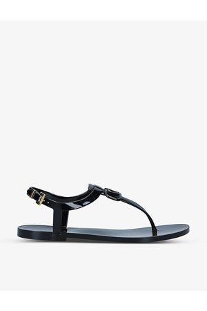 VALENTINO GARAVANI Women Sandals - Logo-patch rubber sandals