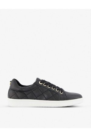 Dune Excited quilted-leather low-top trainers