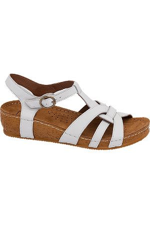 Easy Street Women Sandals - Leather Comfort Footbed Sandals