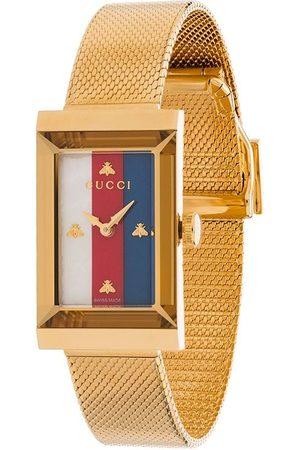 Gucci Women Watches - Rectangle stripe face watch