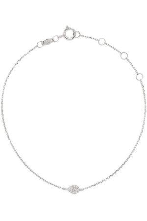 DJULA 18kt white gold diamond pear chain bracelet