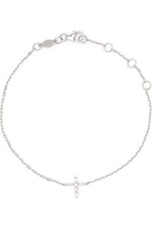 DJULA 18kt white gold Cross diamond chain bracelet