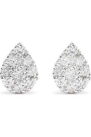 DJULA 18kt white gold diamond Pear earrings