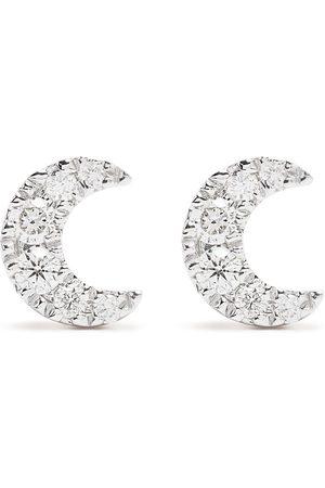 DJULA 18kt yellow diamond Moon earrings