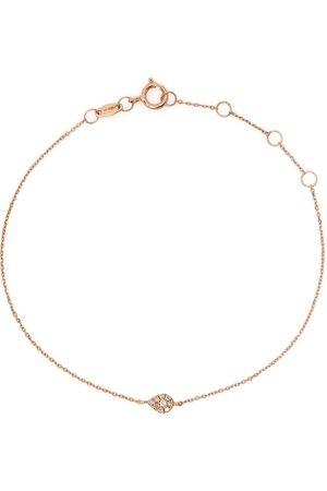 DJULA 18kt yellow diamond pear chain bracelet
