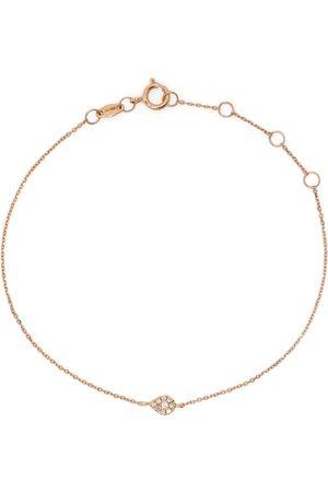 Djula 18kt rose gold diamond pear chain bracelet