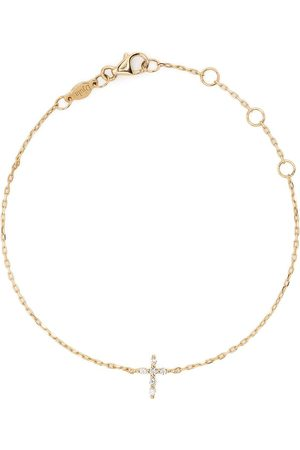 DJULA 18kt yellow Cross diamond chain bracelet