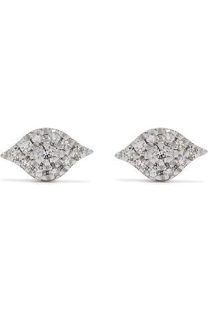DJULA 18kt white gold diamond Eye earrings