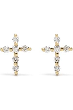 Djula 18kt yellow diamond Big Cross earrings