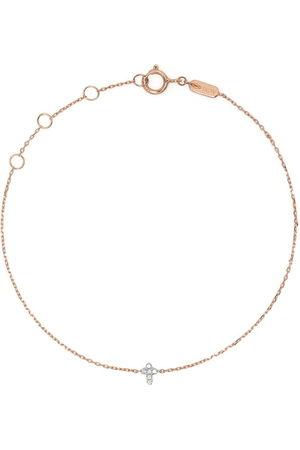 DJULA 18kt rose gold Cross diamond chain bracelet