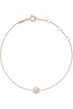 DJULA Women Bracelets - 18kt rose gold Sun diamond charm bracelet