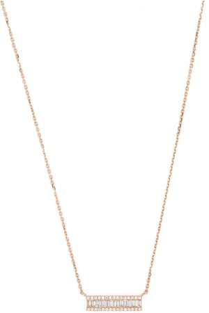 DJULA 18kt rose gold Eclat diamond baguette necklace