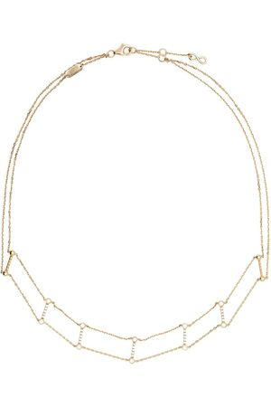 DJULA Women Necklaces - 18kt yellow Graphique double line bar diamond choker