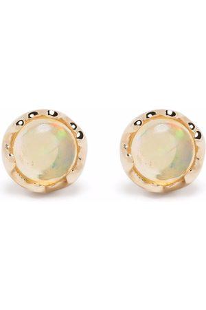 Dinny Hall 14kt yellow opal stud earrings