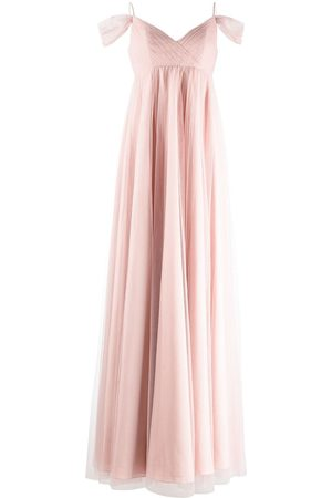Marchesa Notte Isernia cold-shoulder bridesmaid gown