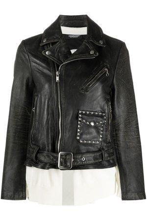 UNDERCOVER Women Jackets - Stud-detail biker jacket